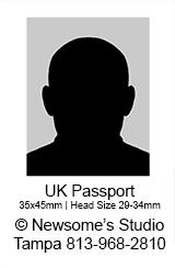 British Passport Photo