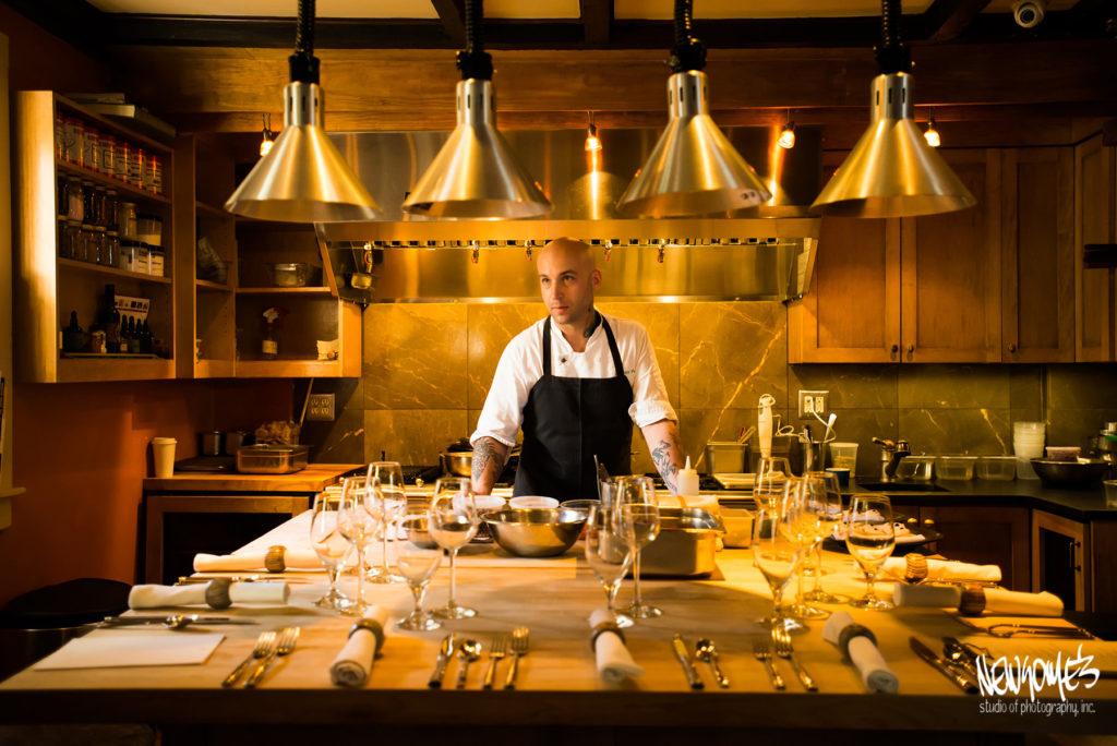Chef in Kitchen of B&B