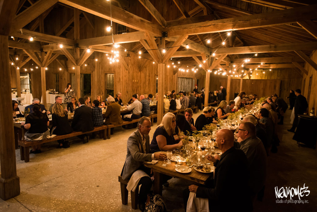 Dinner party in the cotton dock in Boone Hall